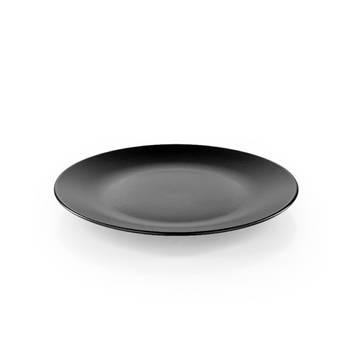 Bernardo - Hanes Siyah Stoneware Yuvarlak Servis Tabağı - 25 cm