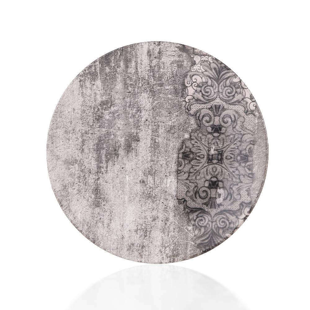 Hanes Eskitme Desenli Stoneware Servis Tabağı - 25 cm