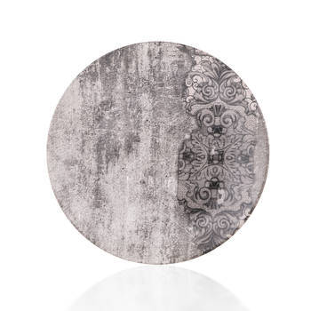 Hanes Eskitme Desenli Stoneware Servis Tabağı - 25 cm - Thumbnail