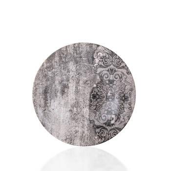 Hanes Eskitme Desenli Stoneware Çukur Tabak - 22 cm - Thumbnail