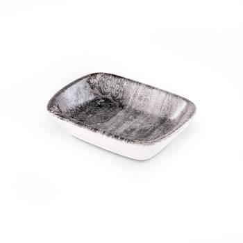 Bernardo - Hanes Eskitme Stoneware Dikdörtgen Kayık Tabak - 13 cm