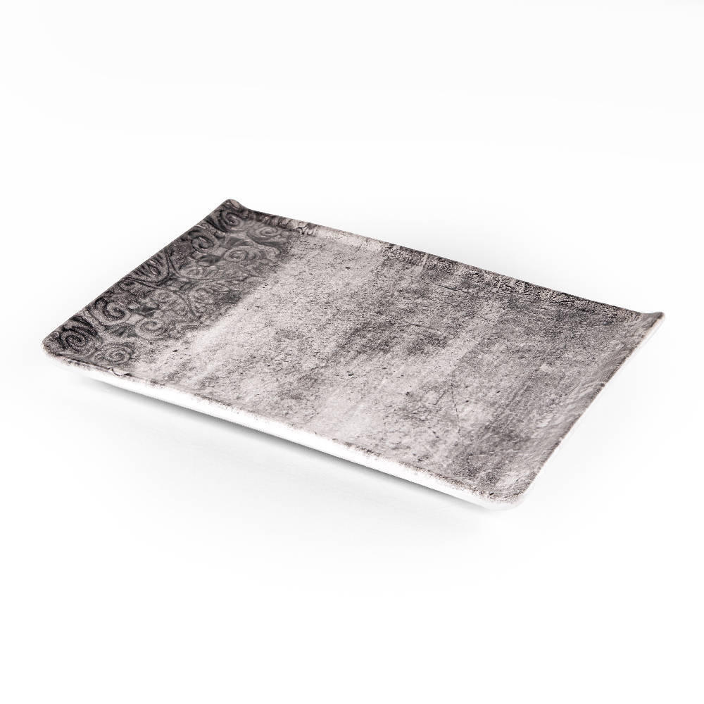 Hanes Eskitme Stoneware Dikdörtgen Tabak - 24 cm