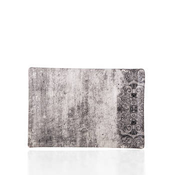 Hanes Eskitme Stoneware Dikdörtgen Tabak - 24 cm - Thumbnail
