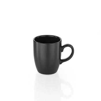 Bernardo - Hanes Siyah Stoneware Kupa - 9 cm