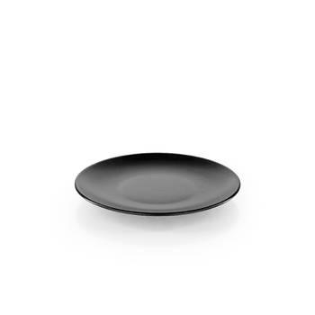 Bernardo - Hanes Siyah Stoneware Pasta Tabağı - 20 cm