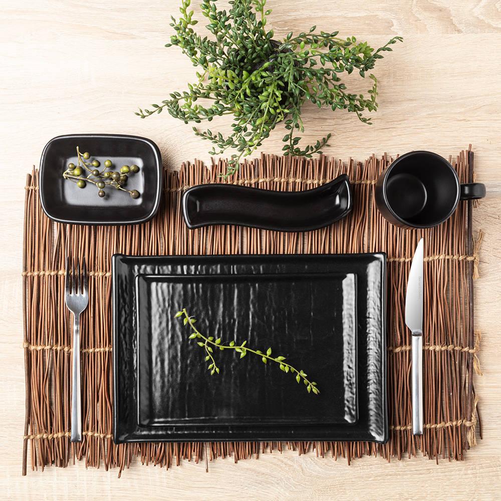 Hanes Siyah Stoneware Sürahi - 20 cm