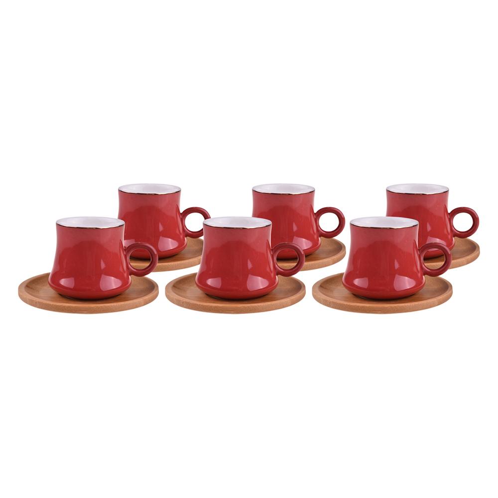 Harem - 6 Kişilik Kahve Fincan Takımı Saray Kırmızı