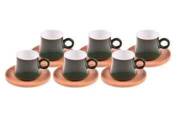 - Harem 6 Kişilik Kahve Fincan Takımı - Yakut Bambum