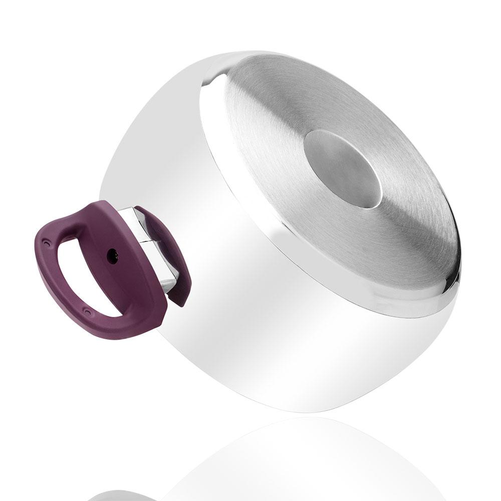 8 Parça Çelik Set - Mor Kulp
