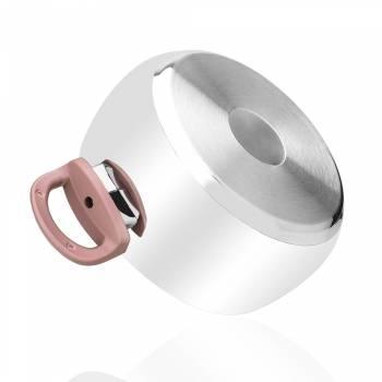- 8 Parça Çelik Set - Pembe Kulp (1)
