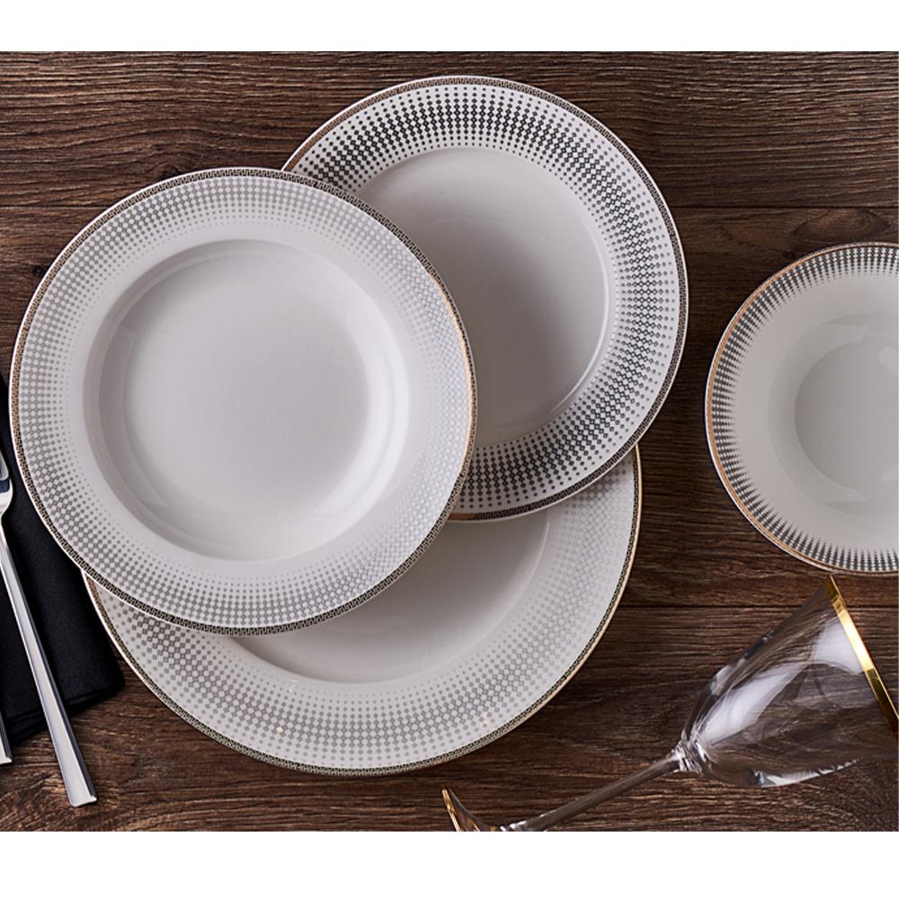 Intense 12 Kişilik 53 Parça Bone China Yemek Takımı