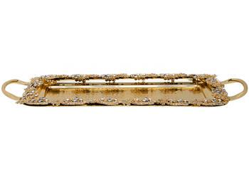 Biev - Jaipur Küçük Boy Gold Servis Tepsisi - 46 cm