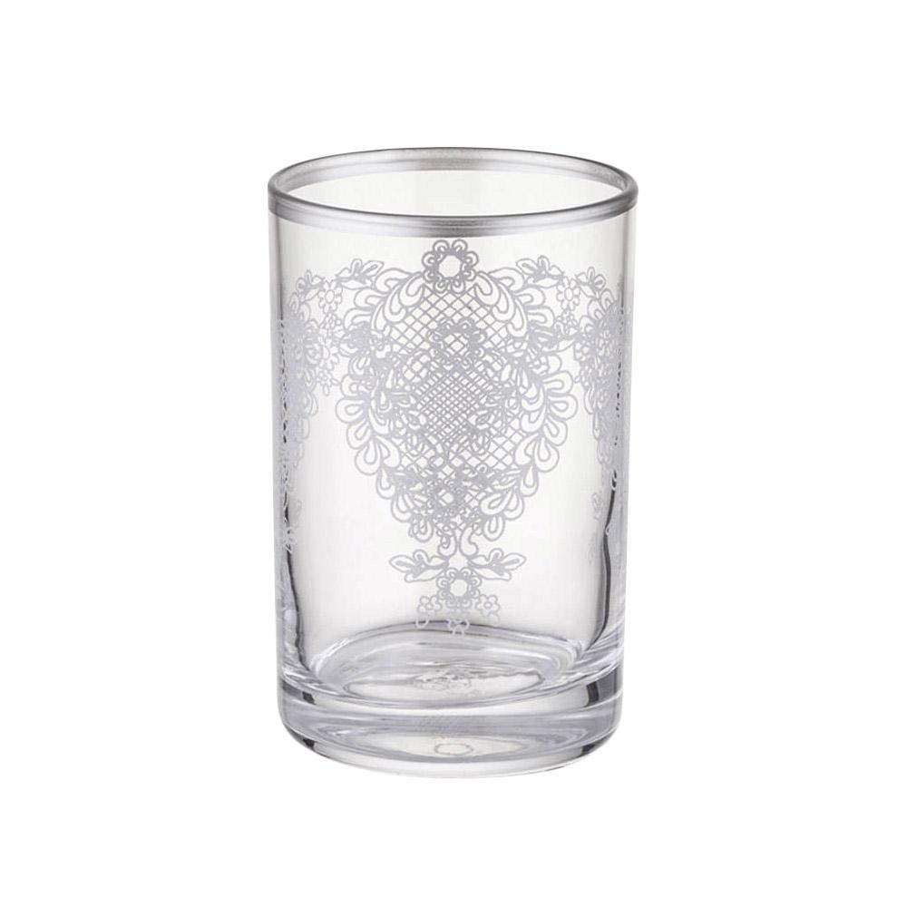 6 Parça Kahve Yanı Su Bardağı Takımı - Platin