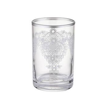 Bernardo - 6 Parça Kahve Yanı Su Bardağı Takımı - Platin
