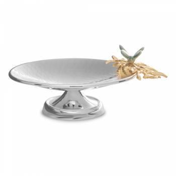 Kelebek Çelik Kısa Ayaklı Servis Tabağı - Thumbnail