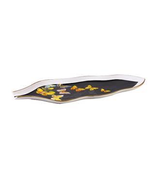 Kelebekli Yaprak tabak 40 cm - Thumbnail