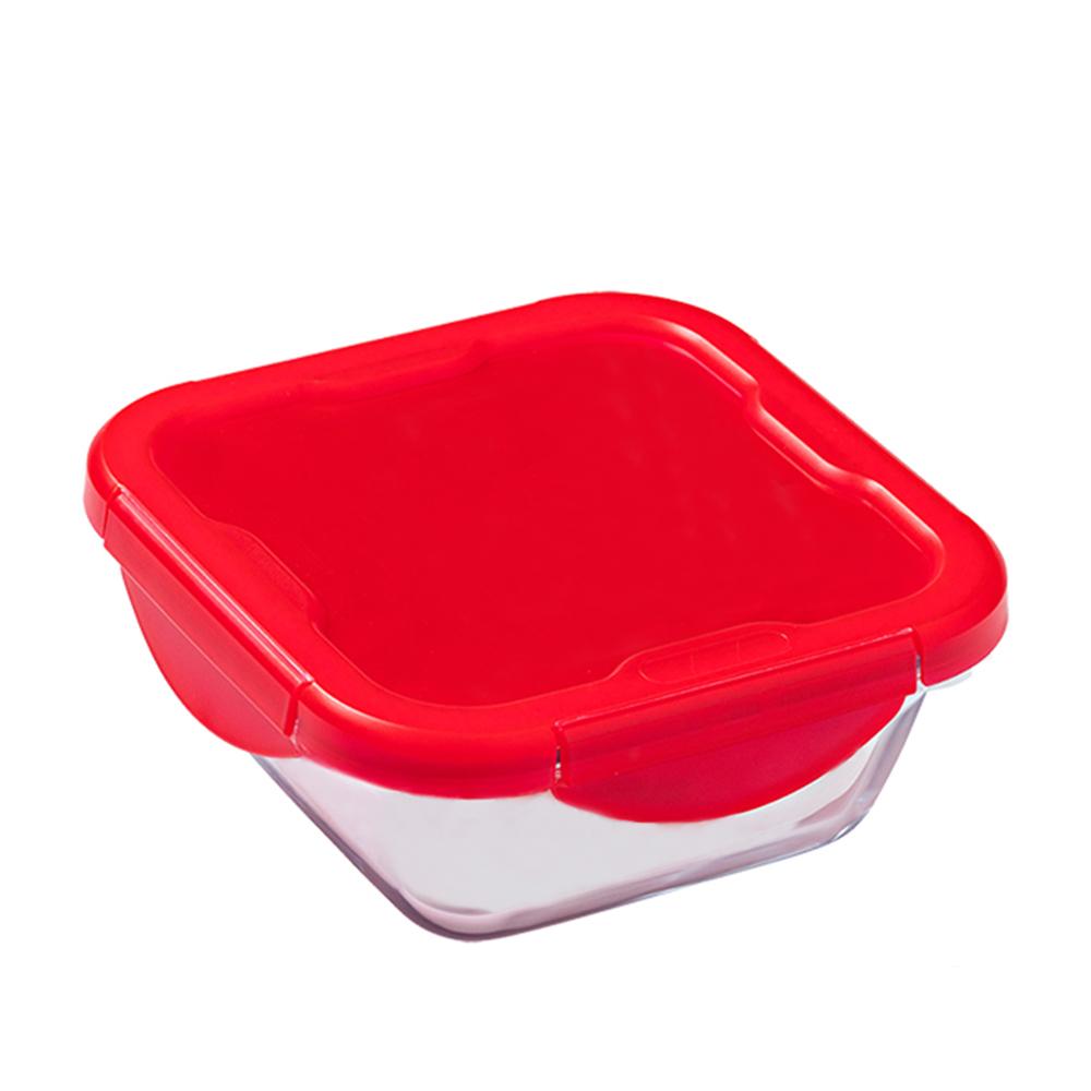 Kırmızı Kapaklı Saklama Kabı - 0,80 lt