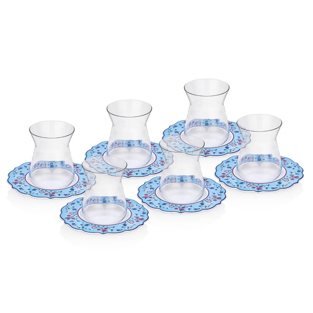 Lalezar 6'lı Çay Bardağı Seti