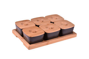 Lalin 13 Parça Kahvaltılık -Siyah Bambum - Thumbnail