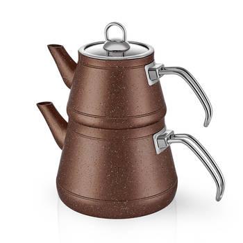 Bernardo - Likya Granit Çaydanlık - Kahverengi