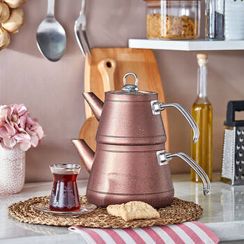 Bernardo - Likya Granit Çaydanlık - Rose
