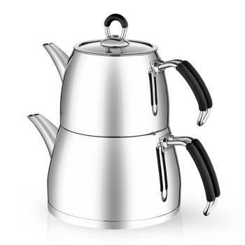 Lima Büyük Boy Çelik Çaydanlık Takımı - Thumbnail