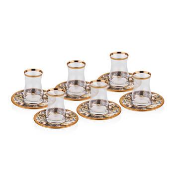 Biev - Louise 6 Kişilik 12 Parça Çay Bardağı Takımı (1)