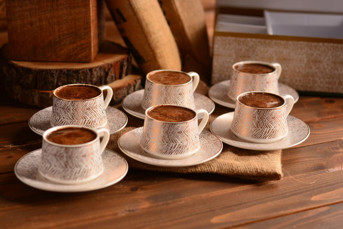 Lusso Prestij 6 Kişilik Kahve Fincan Takımı Bambum
