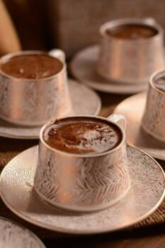 Lusso Prestij 6 Kişilik Kahve Fincan Takımı Bambum - Thumbnail
