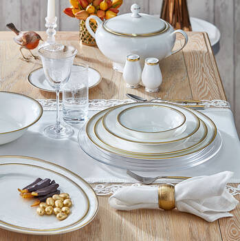 Bernardo - Luxury 12 Kişilik 59 Parça Yemek Takımı - Gold