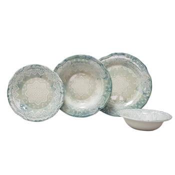 Bernardo - Marrakesh 6 Kişilik 24 Parça Stoneware Yemek Takımı