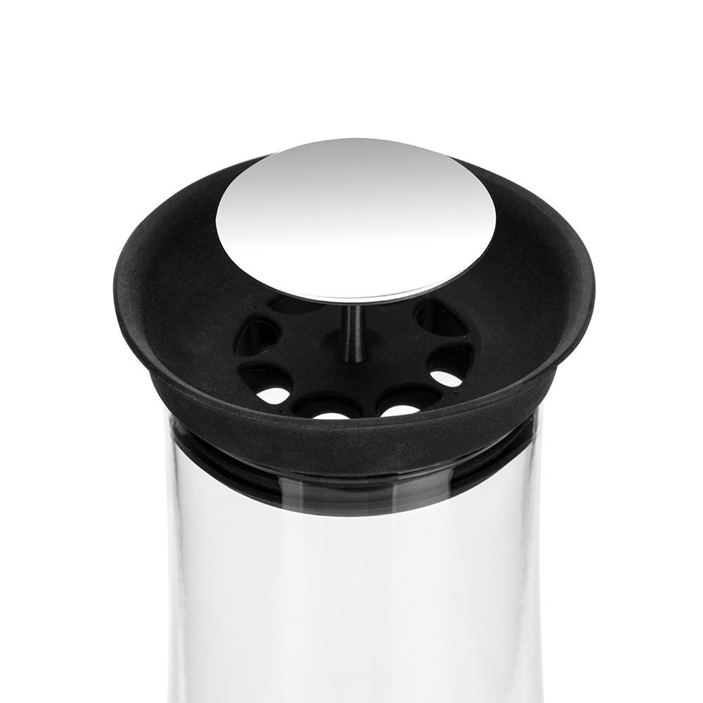 Matone Siyah Plastik Kapaklı Cam Sürahi – 1 lt.