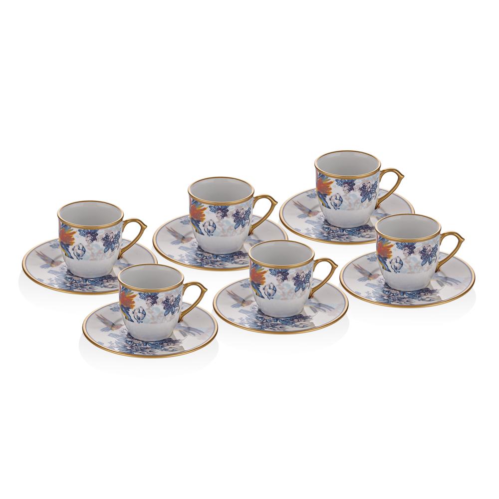 Maura 6 Kişilik 12 Parça Kahve Fincan Takımı