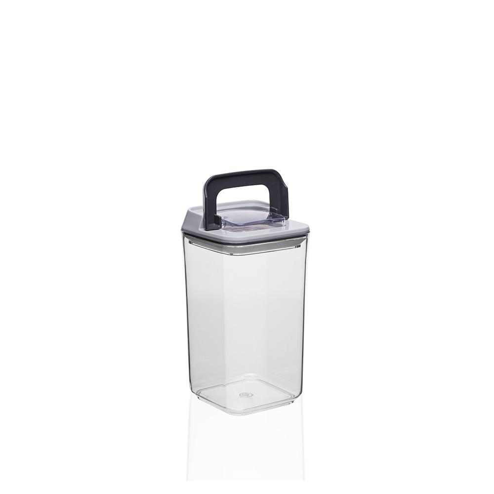 Mild Şeffaf Kare Plastik Saklama Kabı – 0,9 lt