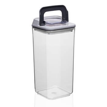 Mild Şeffaf Kare Plastik Saklama Kabı – 1,2 lt - Thumbnail