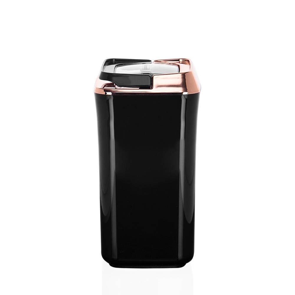 Mild Siyah Kare Plastik Saklama Kabı – 1,2 lt