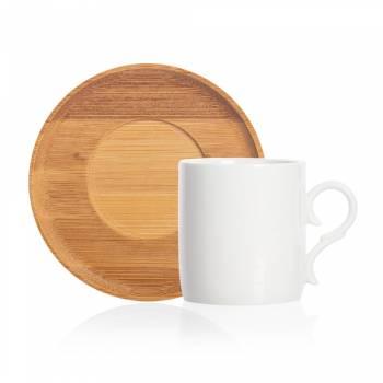 - Monat 12 Parça Kahve Fincan Seti - Bambu & Porselen (1)