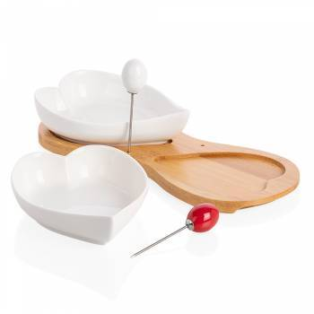 - Monat 2'li Kalp Servis Kasesi - Bambu & Porselen (1)
