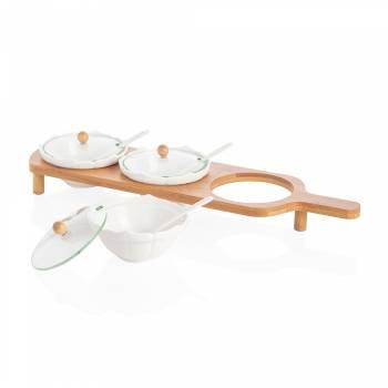- Monat 3'lü Kapaklı Sosluk - Bambu & Porselen (1)
