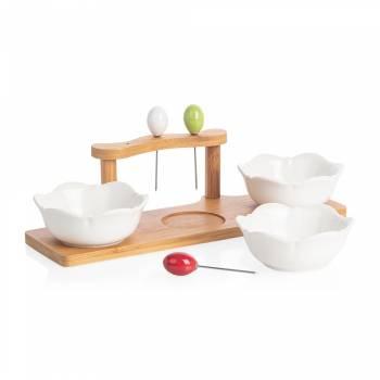 - Monat 3'lü Kase Seti - Bambu & Porselen (1)