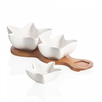 - Monat 3'lü Yıldız Sosluk - Bambu & Porselen (1)