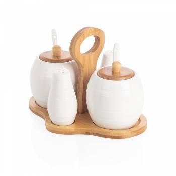- Monat 4'lü Baharatlık - Bambu & Porselen