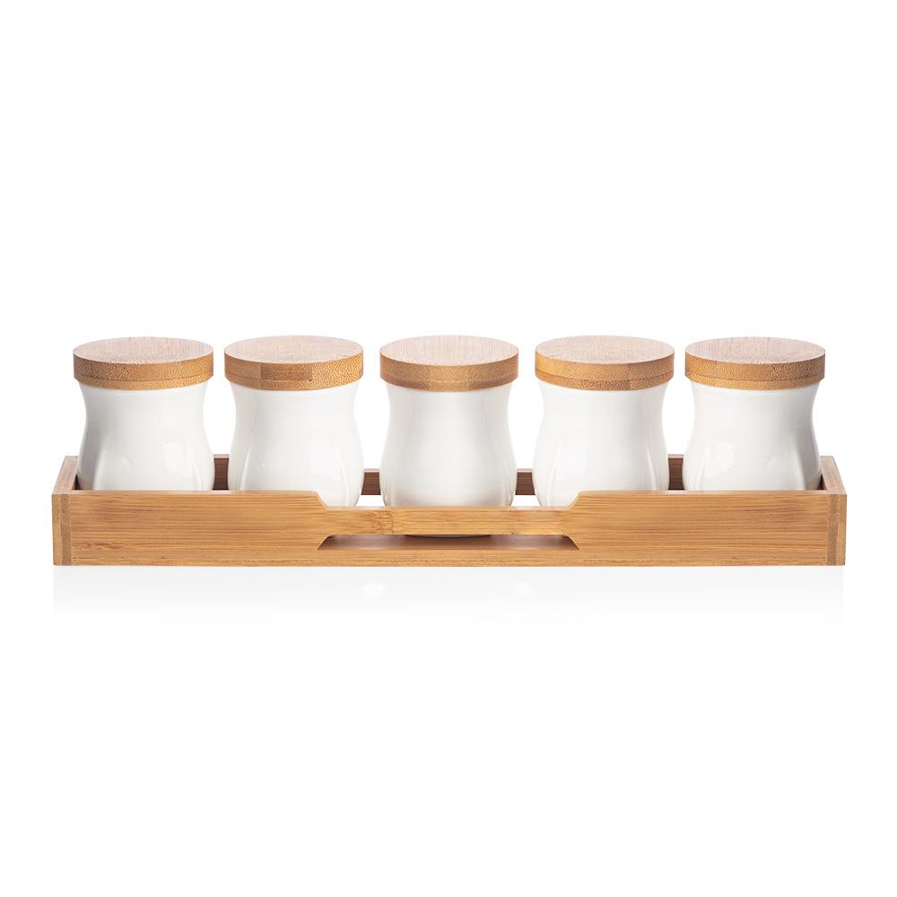 Monat 5'li Kavanoz Seti - Bambu & Porselen