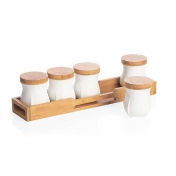 Monat 5'li Kavanoz Seti - Bambu & Porselen - Thumbnail