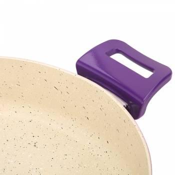 - Mor - Krem 30 cm Basınçlı Tencere (1)