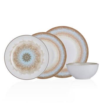 Bernardo - Mosaic 6 Kişilik 24 Parça Bone Porselen Yemek Takımı (1)