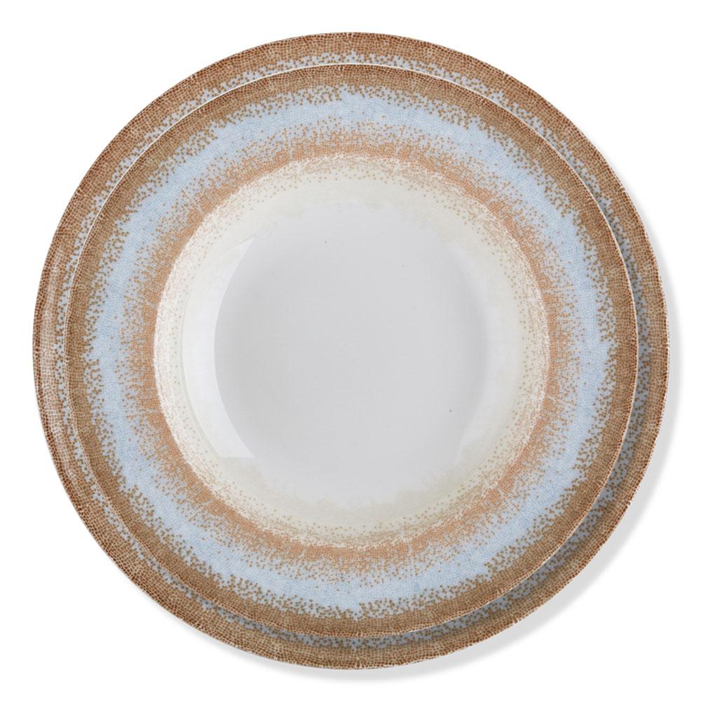 Mosaic 6 Kişilik 24 Parça Bone Porselen Yemek Takımı