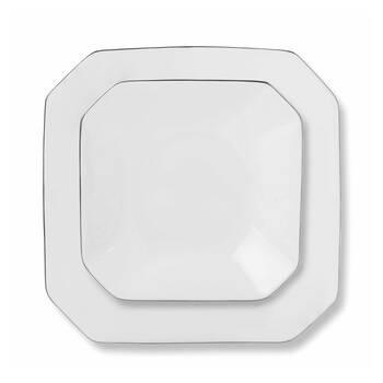 Octagon 12 Kişilik 59 Parça Yemek Takımı - Platin - Thumbnail