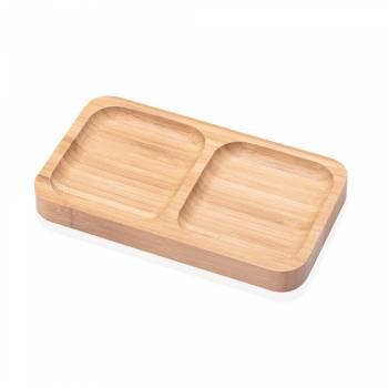 - Olea 2 Bölmeli Servis Tabağı - Bambu