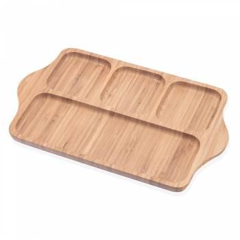 - Olea 4 Bölmeli Servis Tabağı - Bambu